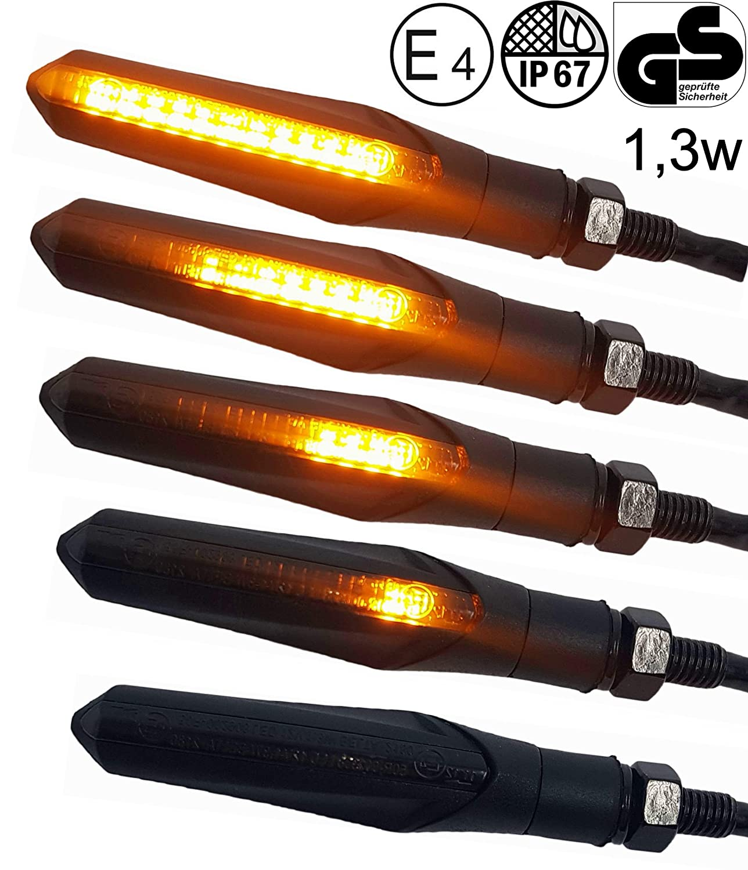2x 12 LED Blinker Motorrad Laufeffekt Lauflicht Sequentiell für Quad Roller ATV