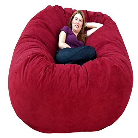 Cozy Sack 6 Feet Bean Bag Chair Large Cinnabar