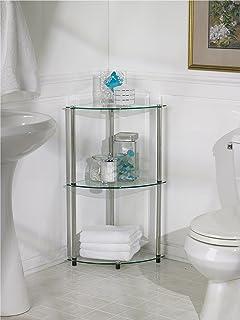 convenience concepts designs2go goaccsense 3tier glass corner shelf clear glass