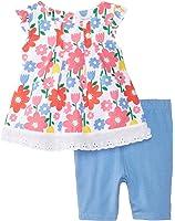 Vitamins Baby Baby-Girls Newborn Multi Floral 2 Piece Capri Set
