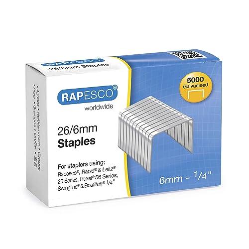 Rapesco Galvanised Staples 26/6 mm - Box of 5,000