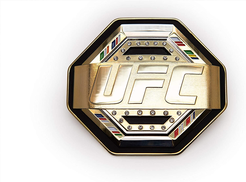 UFC Mens Legacy Belt Desktop Plaque Black//Gold//Silver One Size