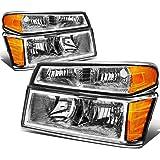 For Chevy Colorado/GMC Canyon 4Pcs Chrome Housing Amber Corner Headlight Bumper Light