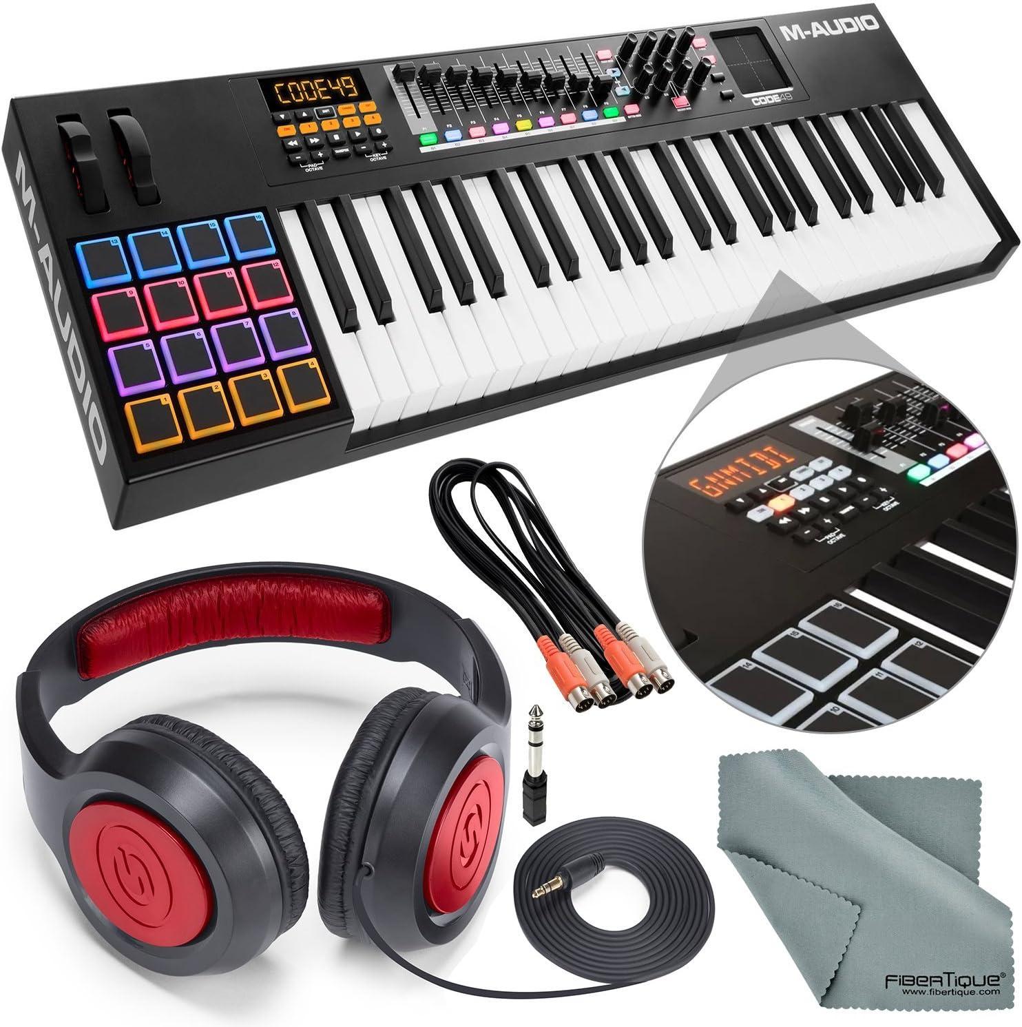 M-Audio Code 49 Controlador de teclado USB-MIDI de 49 teclas ...