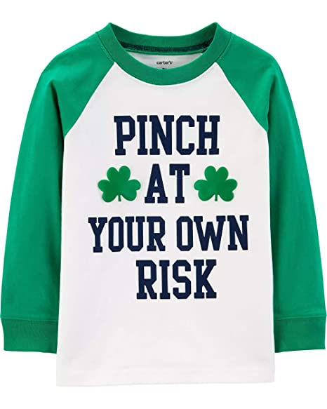 e6ef79c282 Carter s St Patrick s Day Shamrock Long Sleeve Tee Shirt for Baby and  Toddler Boys Pinch at