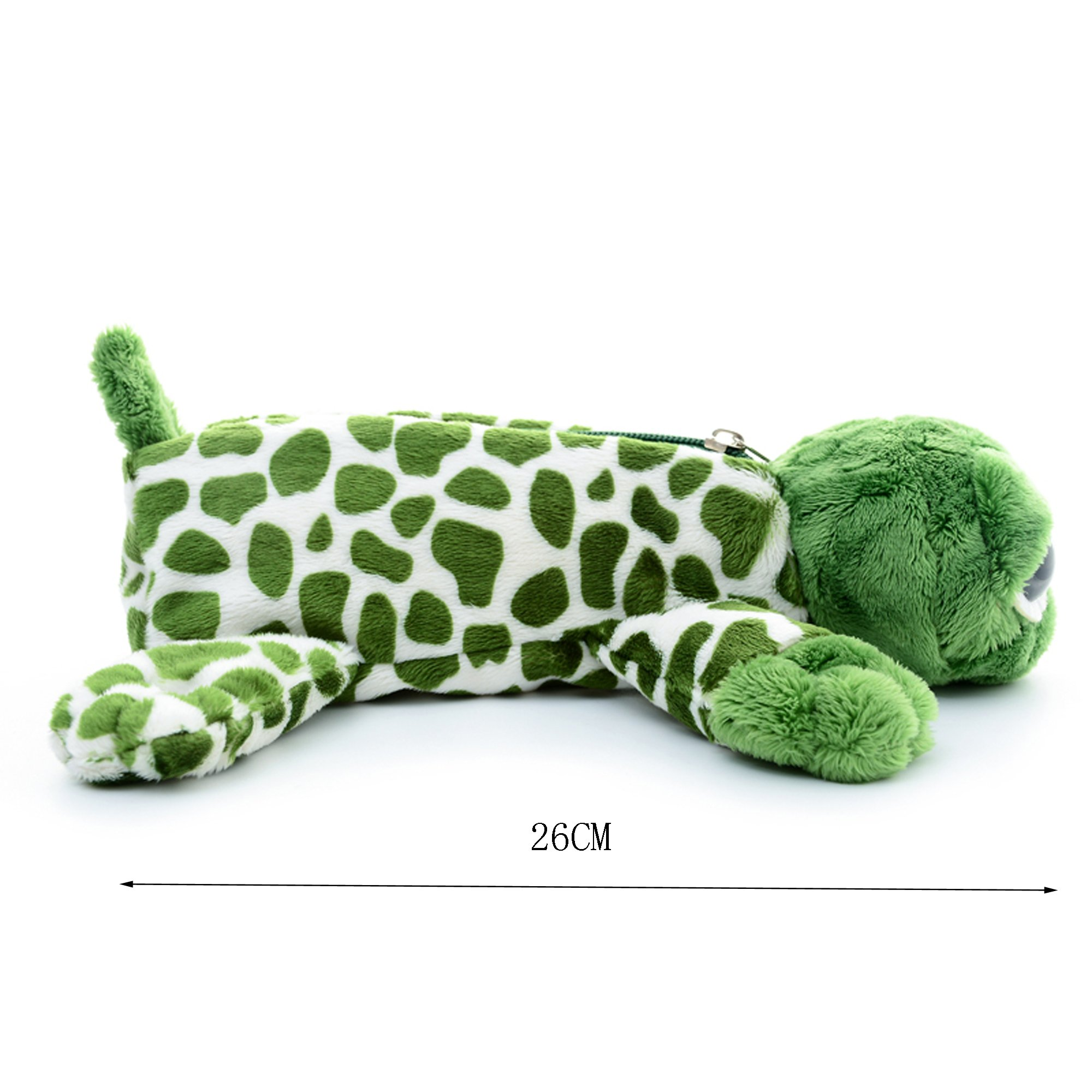 Cartoon Animal Plush School Pencil Bag Pen Case Comestic Makeup Pouch 11'' (turtle) by Gloveleya (Image #3)