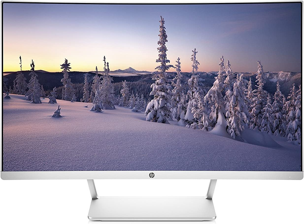 HP 27in Curved HP27SC1 LCD WLED Monitor - Silver (Renewed)