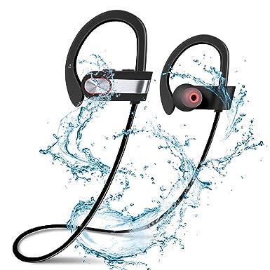 UniqueBella deportes inalámbrica Bluetooth auriculares mejores auriculares impermeable HD estéreo Sweatproof auriculares para gimnasio correr entrenamiento