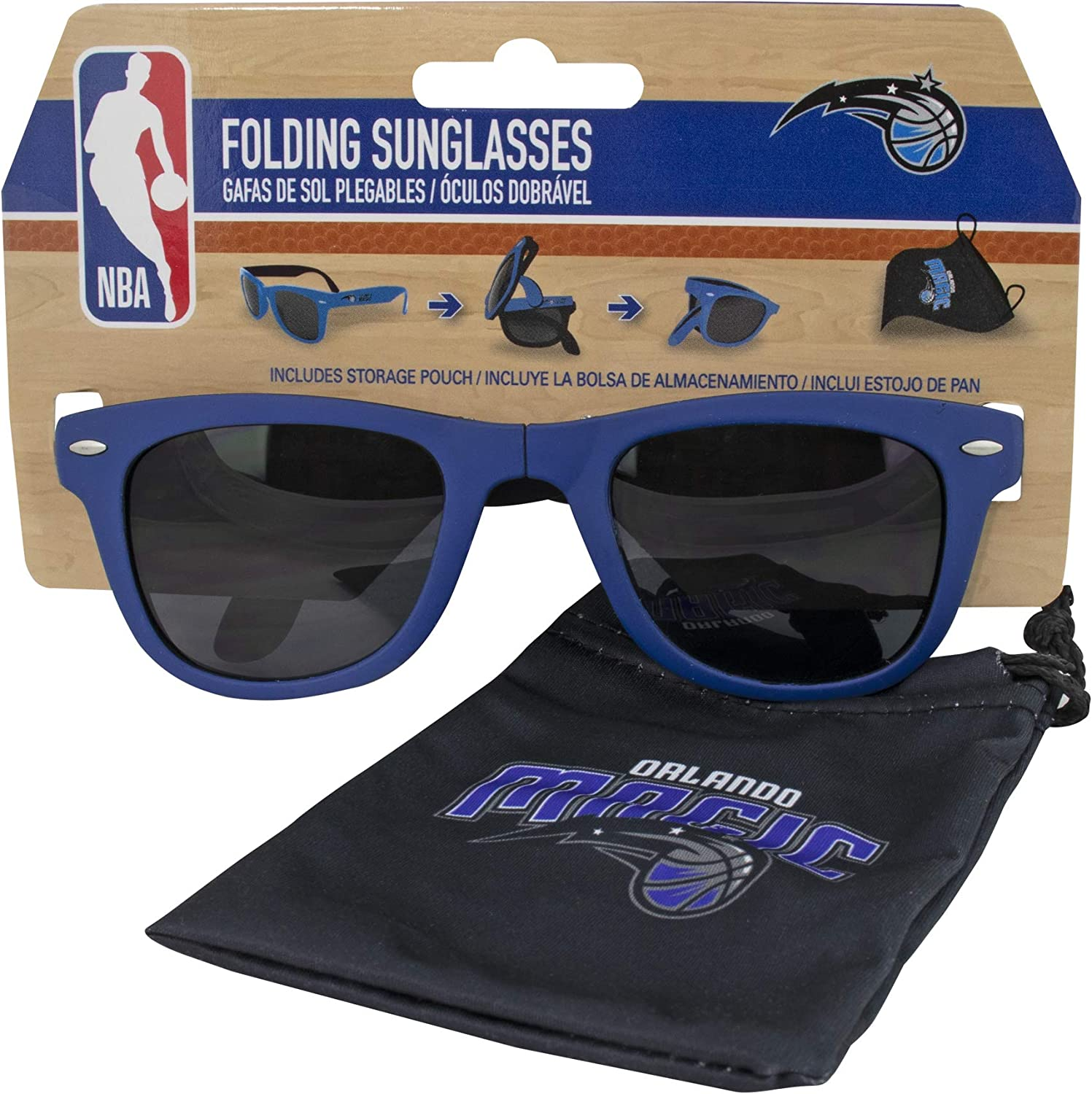 Orlando Magic Folding Sunglasses with Carrier Pouch