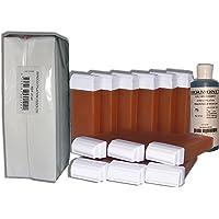 Look Concept Waxserie voor ontharing, 12 navulverpakkingen + 250 strips + olie – honing voor ontharing
