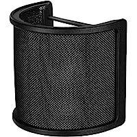 Filtre Anti Pop Micro, Tuloka Filtre Antipop pour bird UM1 Microphone Écran anti-vent avec Couche de Mousse pour Studio d'Enregistrement Micros, Noir