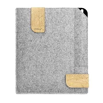 Bolsa de fieltro Stilbag para Apple iPad Pro 9.7 (2016) | Estuche de fieltro de lana Merino y corcho con compartimento Pencil | Modelo KUNO en gris claro: Amazon.es: Electrónica
