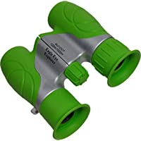 Shock Proof, Waterproof, 8x21 Kids Binoculars, Wrist Strap, and Case. Use for Bird Watching, Learning, Stargazing…