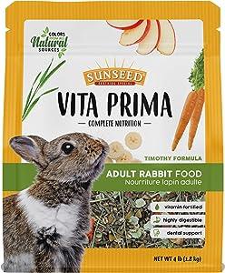 Sunseed Vita Prima Complete Nutrition Adult Rabbit Food, 4 LBS