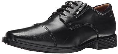clarks mens black leather shoes