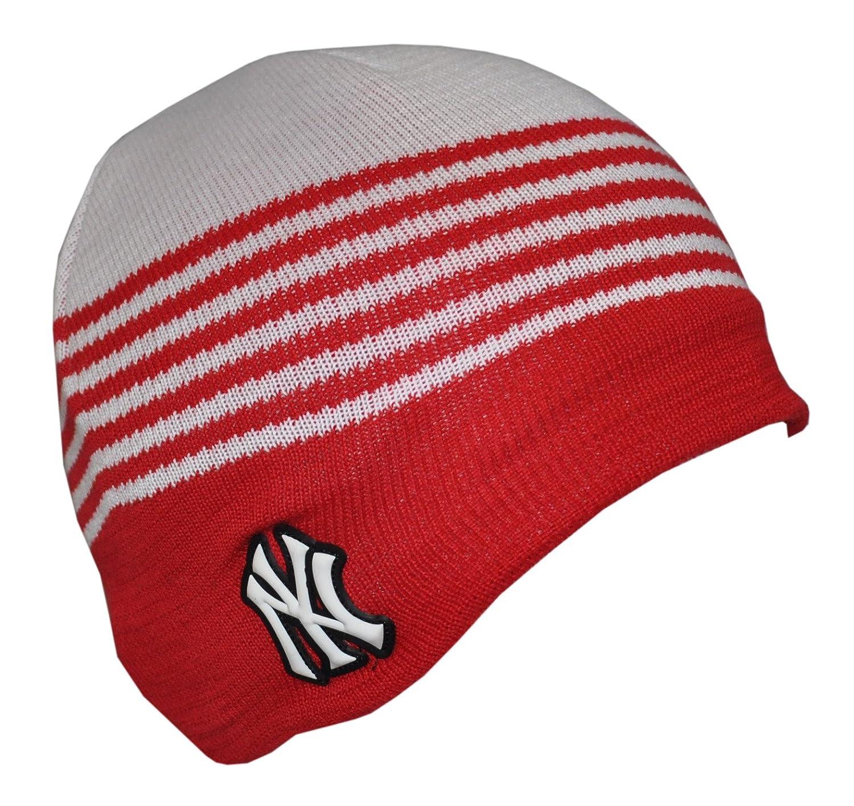 Beanie Hat NY Yankees White   Red (BH2204)  Amazon.co.uk  Clothing ec965a789e2