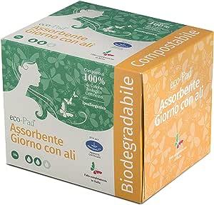Compresas día con alas 100% algodón biológico 4 paquetes ...