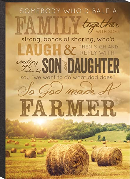 Amazon.com: So God Made A Farmer Hay Bales Inspirational Wooden ...