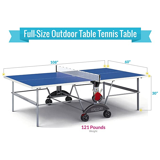 Attrayant Amazon.com : Kettler Top Star XL Weatherproof Table Tennis Table With  Outdoor Accessory Bundle : Sports U0026 Outdoors