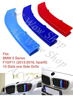 Fit B M W 1 Serie 2012 2014 8 Grill F20 F21 Nieren K/ühlergrill Grill Clip in stripe streifen Cover Trim Schnalle Decor 3D 3 Farbe M Power M Sport Tech Motorhaube Kapuze