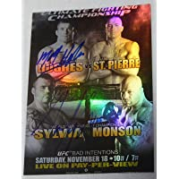 $92 » Matt Hughes & Tim Sylvia Signed UFC 65 2010 Topps Fight Poster Card Autograph - Autographed UFC Event Poster