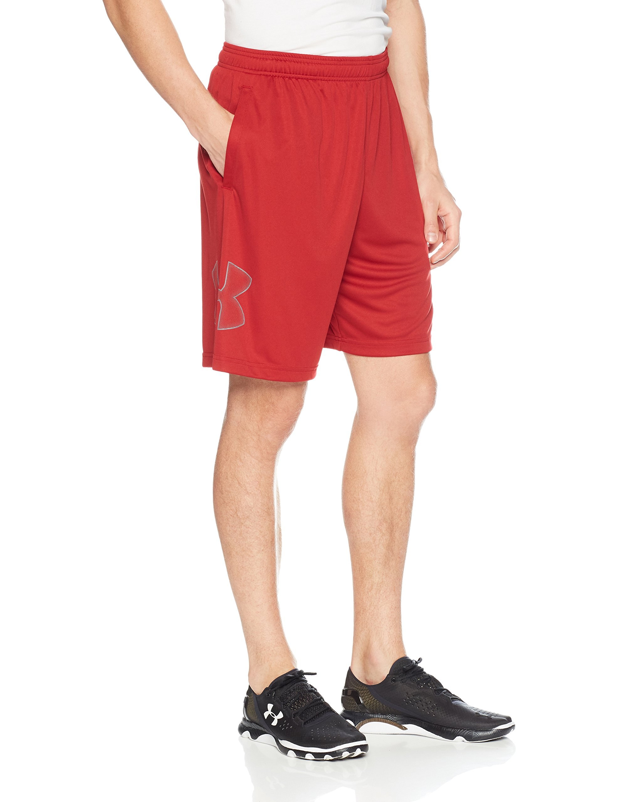 Under Armour mens Tech Graphic Shorts , Rapture Red (620)/Graphite, Small