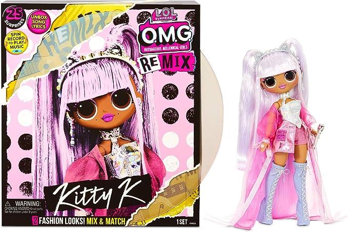 Amazon.com: L.O.L. Surprise! O.M.G. Remix Kitty K Fashion Doll – 25 Surprises with Music: Toys & Games