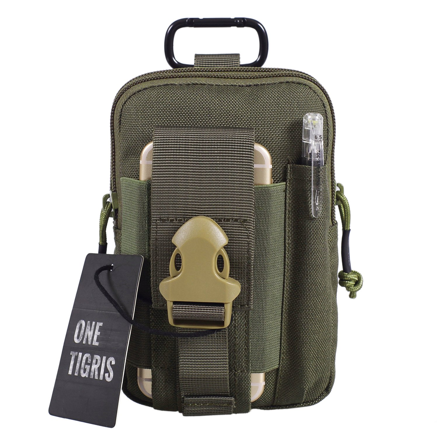 Coyote Brown OneTigris Compact MOLLE EDC Pouch Utility Gadget Pouch
