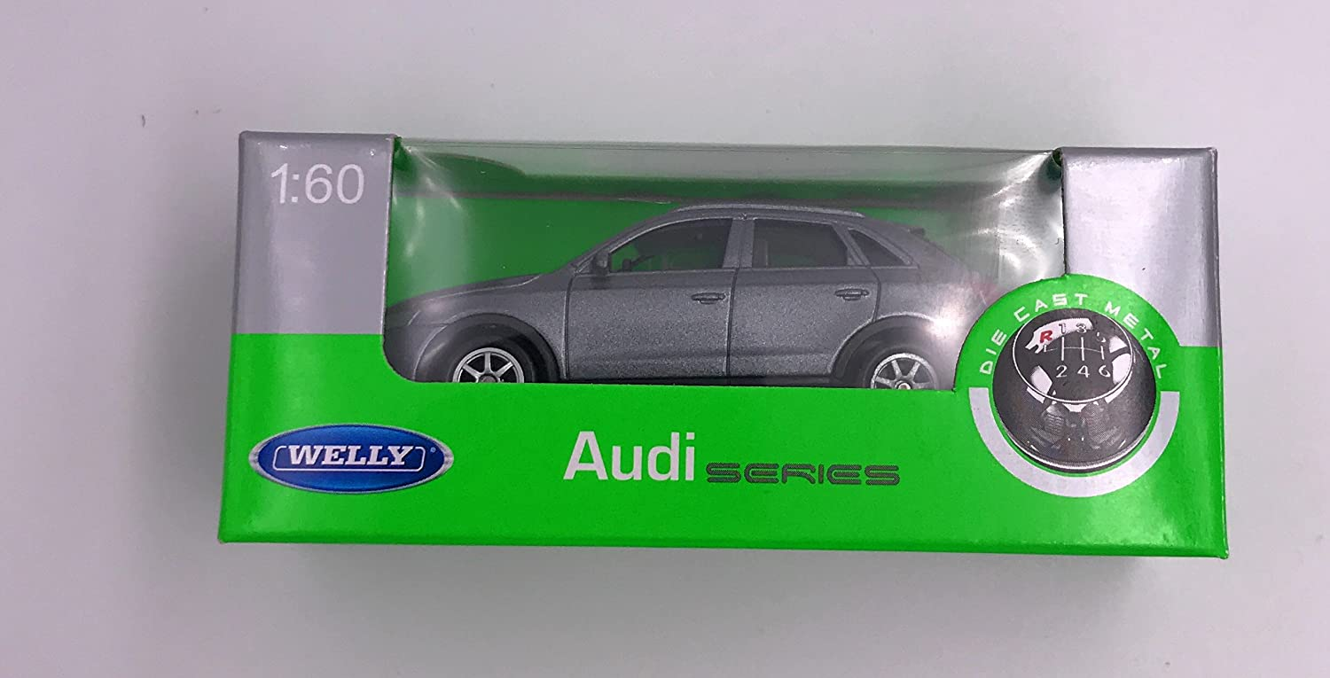 Welly Audi Q3 model car license product 1:60 Silver OVP