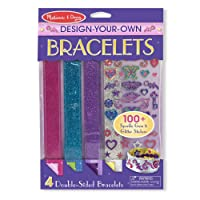 Melissa & Doug Design-Your-Own Bracelets with 100+ Sparkle Gem and Glitter Stickers