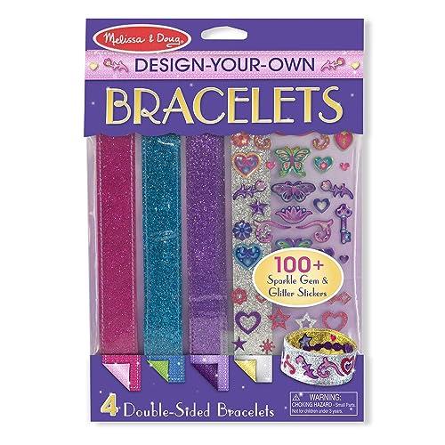 Melissa Doug Design Your Own Bracelets With 100 Sparkle Gem And Glitter