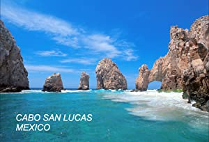 Mexico Mexican Fridge Refrigerator Magnets (1 Piece, Cabo San Lucas Mexico- 1)