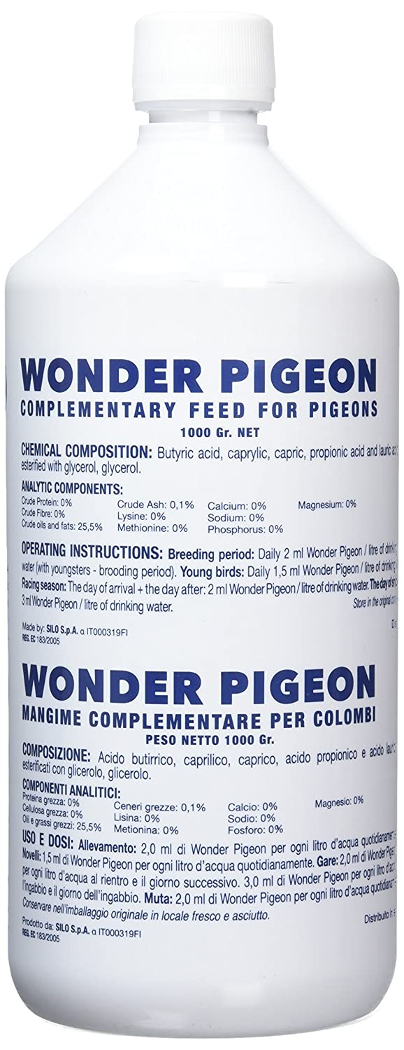 Amazon.com : Wonder Pigeon 1L, An additional feed with astonishing results in coupling, laying, hatching, breeding and racing performances and this without ...