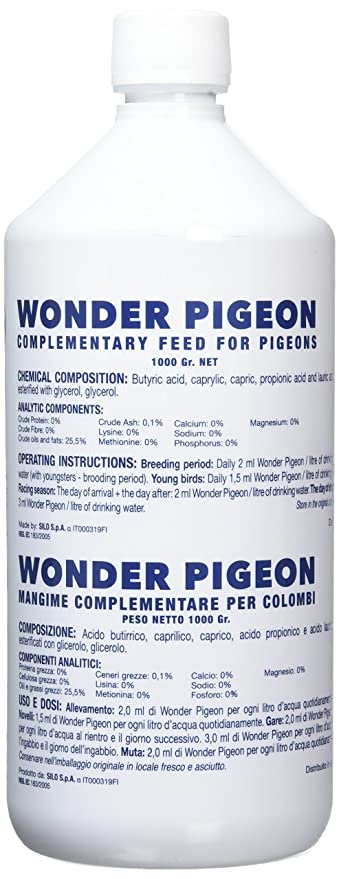 Wonder Pigeon 1L, An additional feed with astonishing results in coupling, laying, hatching