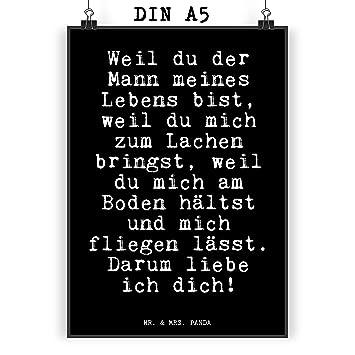 Amazon De Mr Mrs Panda Poster Din A5 Mit Spruch Weil Du Der