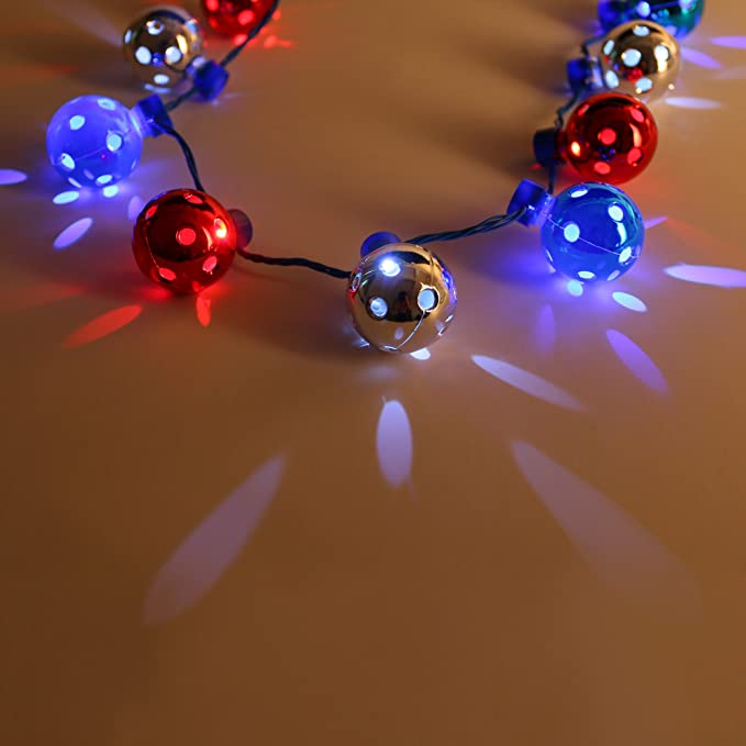 Fun Central BC685, LED Light up Disco Ball Necklace, Disco Ball Toy ...