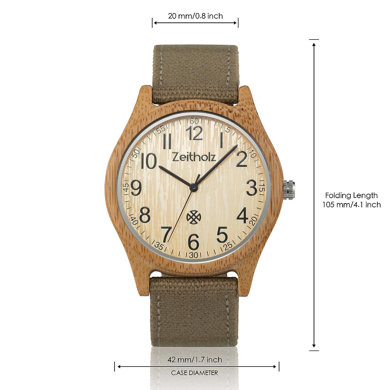 Uhrwerk Altenberg Beige Quartz Canvas Uhr Modell Mit Unisex Armband Zeitholz Analog pSMGzVqU