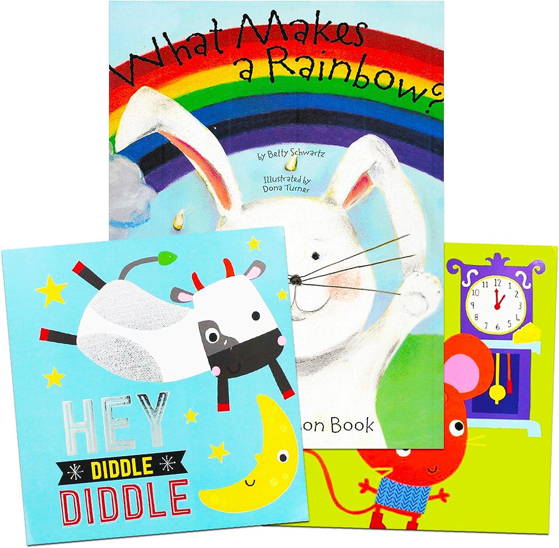 レインボーの特徴: マジックリボンボードブック ヒッコリー ディコリー ドック ヘイ・ディドルディドルセット - 3冊のデラックスボードブック 子供 幼児用