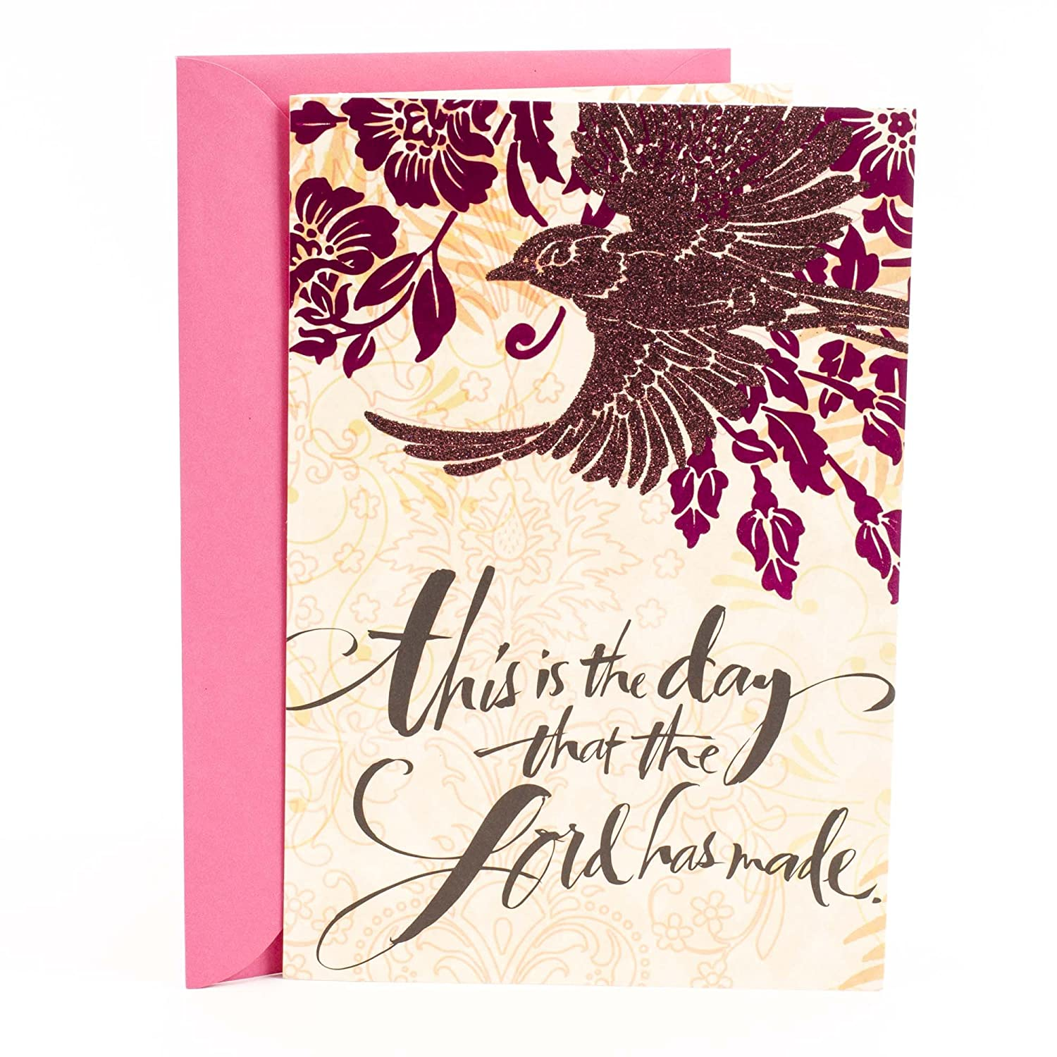 Amazon Hallmark Mahogany Religious Birthday Card The Day Lord Has Made Office Products