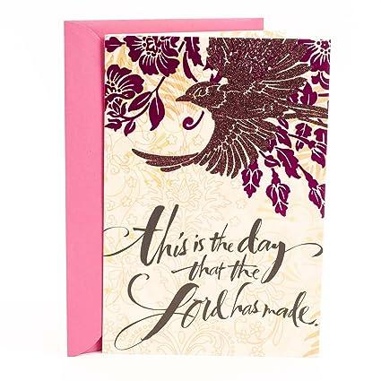 Amazon Hallmark Mahogany Religious Birthday Card The Day