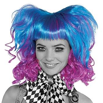 Ladies Mad Hatter Wig Blue Purple Book Week Fancy Dress Accessory   Amazon.co.uk  Toys   Games 4bb5457024da