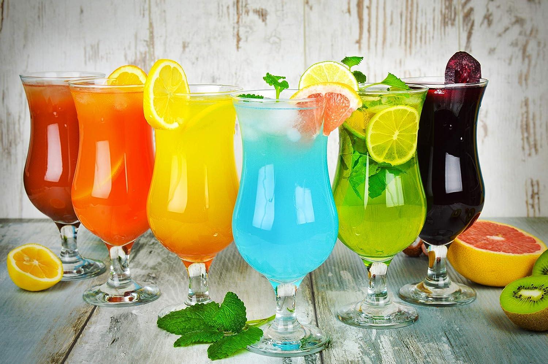 Lot de 6/verres /à cocktail Hurricane 480/ml 9/variantes Verres /à long drink Bar Verres Rot