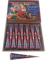 Kaveri Indian High Quality Premium Mehndi Cones Pack of 12 Pieces