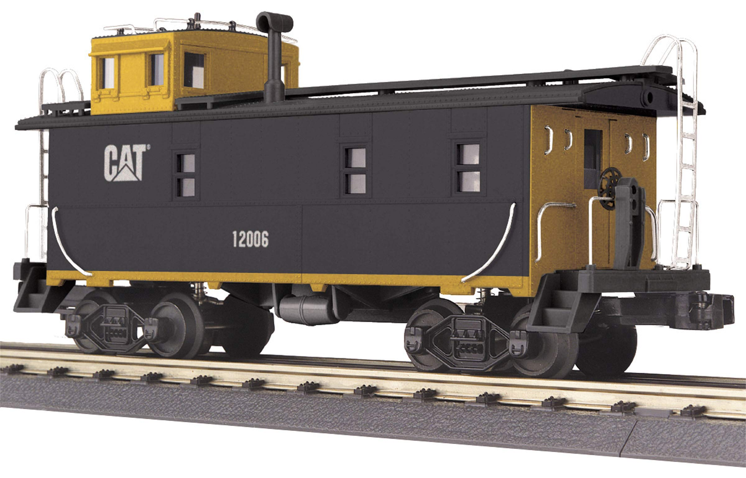 MTH Rail King Cat 1:48 O Scale Caterpillar Offset Steel Caboose 12006 #30-77104
