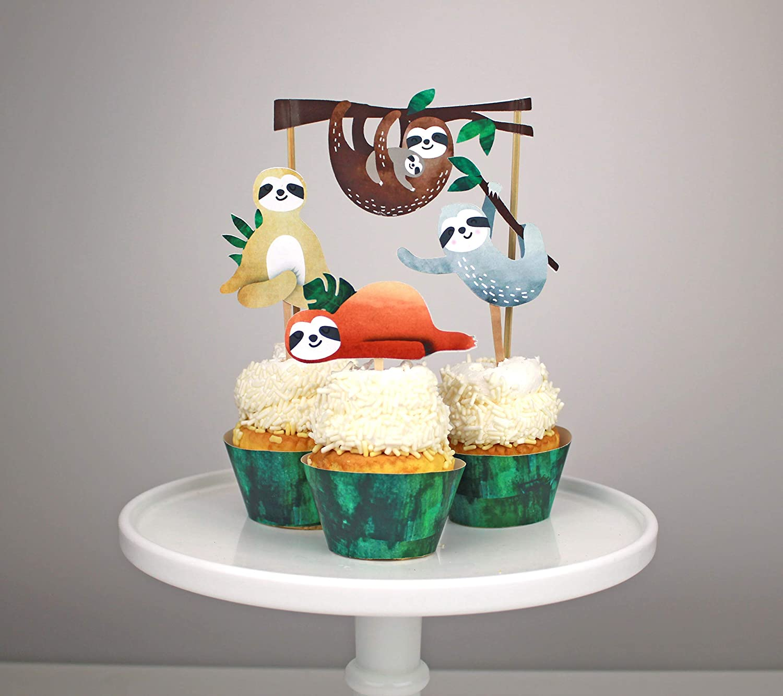 3 pcs Sloth Cake Topper Gâteau Décoration