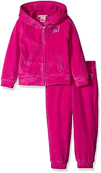 b8e1663081 Juicy Couture Girls 2 Piece Velour Pants Set Clothing Set: Amazon.ca ...