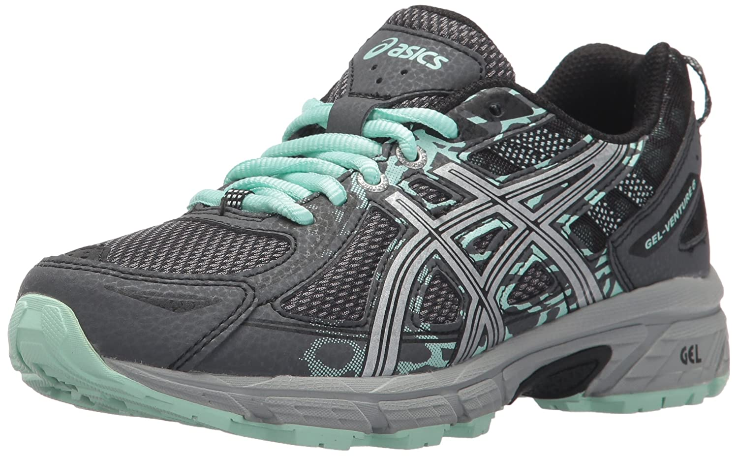 ASICS Mens Gel-Venture 6 Low Top Lace Up Running Sneaker B072F3LJPZ Castlerock/Silver/Honeydew 1 Women's Size 5, Medium Width 1 Women's Size 5, Medium Width|Castlerock/Silver/Honeydew