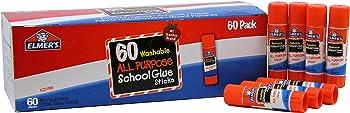 60 Pack Elmer's All Purpose School Washable 0.24-Ounce Glue Sticks