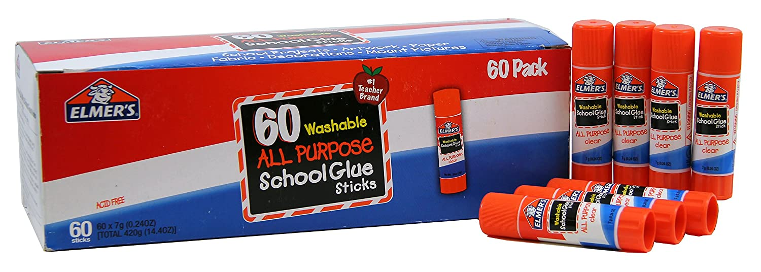 Elmer's All Purpose School Glue Sticks, Washable, 60 Pack, 0.24-ounce sticks Cell Distributors E501
