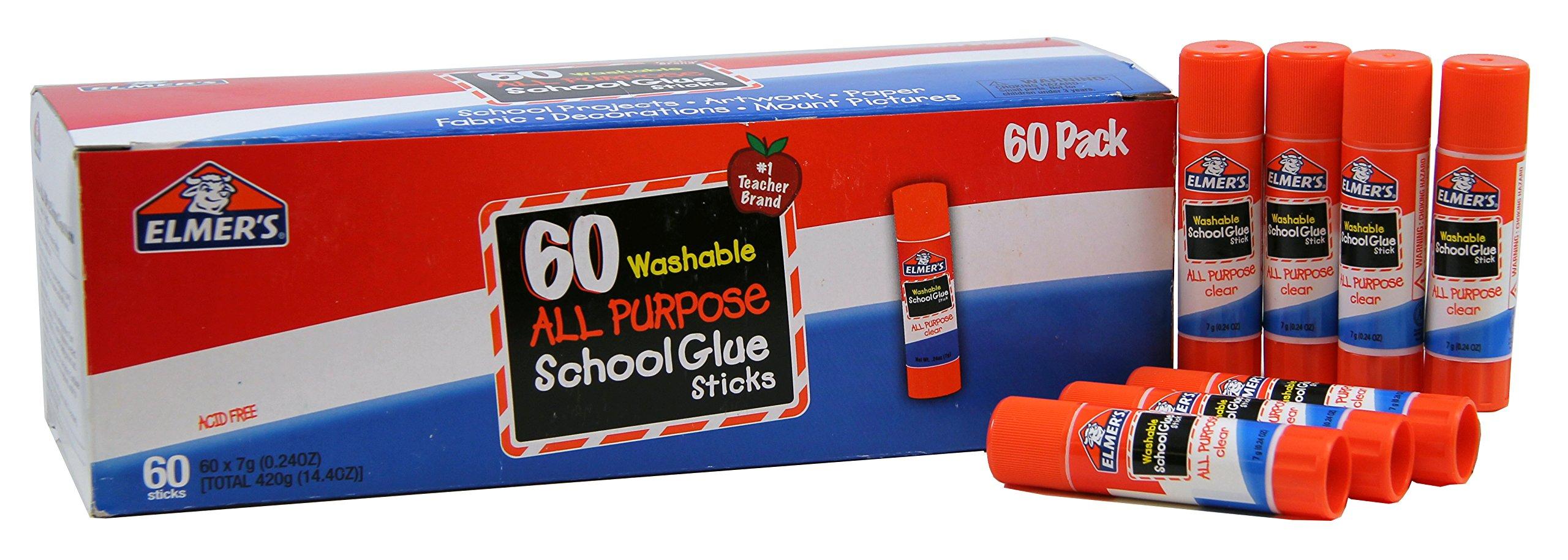 Elmer's All Purpose School Glue Sticks, Washable, 60 Pack, 0.24-ounce sticks by Elmer's (Image #5)